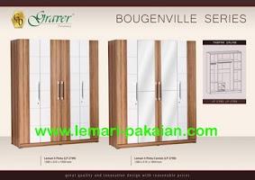 Gambar Lemari Pakaian Murah 4 Pintu Bougenville