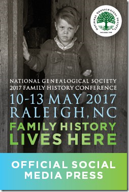 The Ancestry Insider is a member of the NGS 2017 conference social media press.