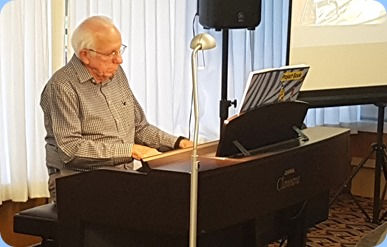 Rob Powell playing the Yamaha Clavinova CVP-509.