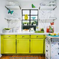Nhà bếp phong cách với hệ thống kệ mở - Thi công trang trí nội thất