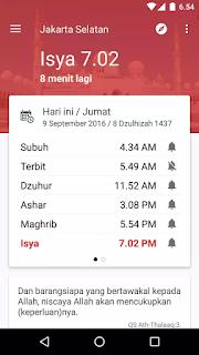 Download aplikasi jadwal sholat dan imsakiyah
