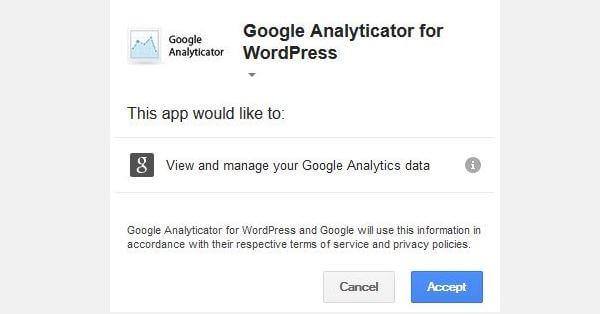 Google Analyticator Authorization