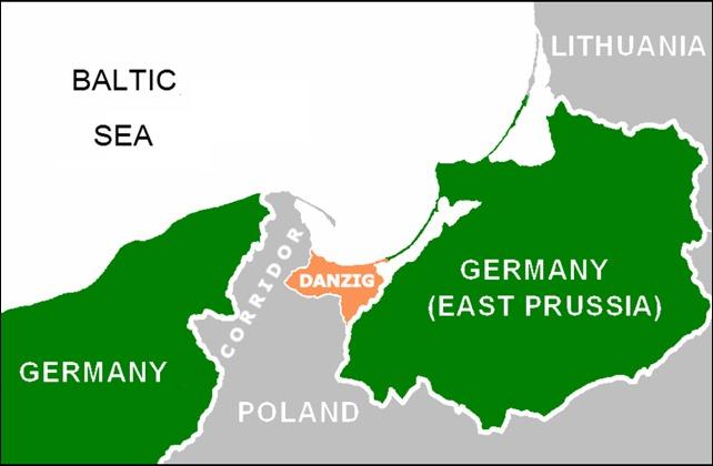 Danzig corridor map
