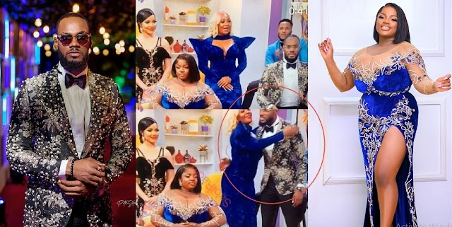 Moment Prince ignored Dorathy as he greets other housemates at the BBNaija Reunion (Video)