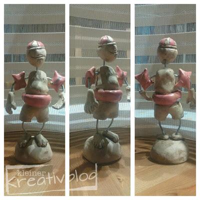 """kleiner-kreativblog: Skulptur """"Freischwimmer"""""""