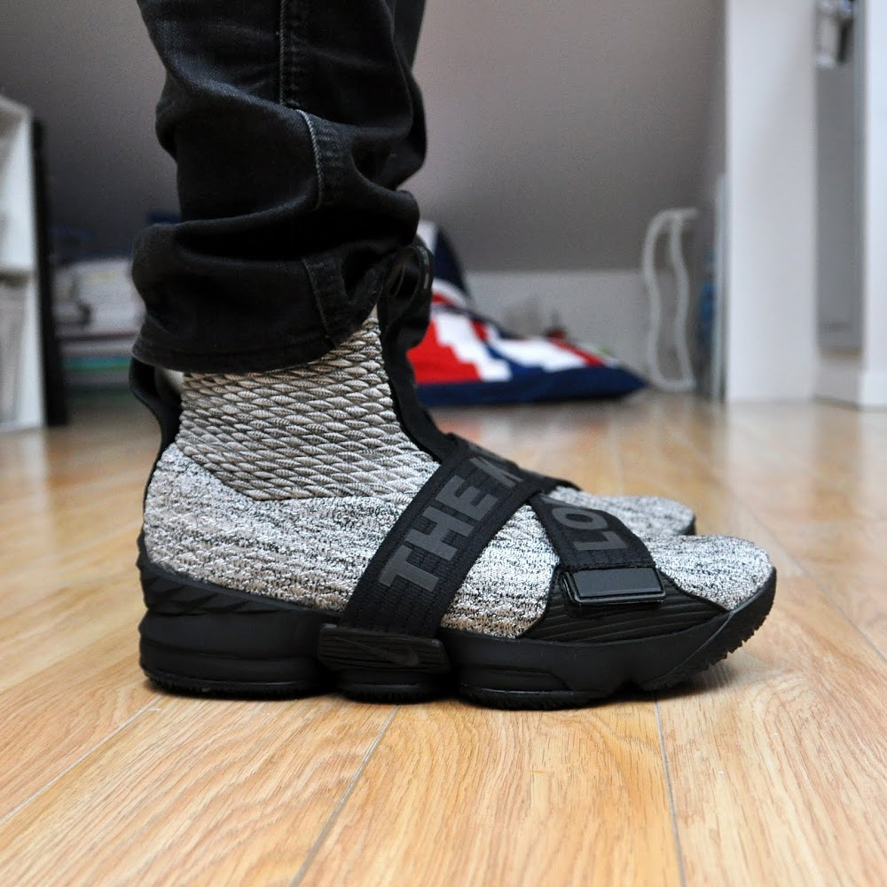 f323a4eb4e5f ... Nike LeBron 15 Kith Concrete OnFeet Look ...