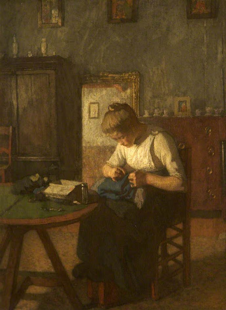 Harold Knight - The Young Seamstress