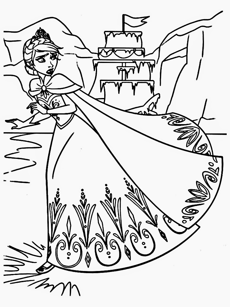 Frozen 3d Coloring Book Worksheet Coloring Pages