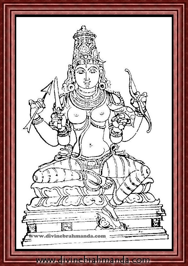 Soundarya Lahari Sloka, Yantra & Goddess For Seeing the Goddess in Person, Winning over enemies - 07