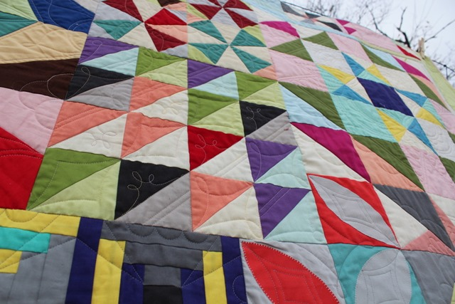 Bella Skill Builder Quilt by Kim Lapacek, Quilted by Mandy Lein