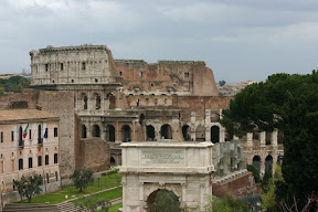 The Colosseum and the Forum