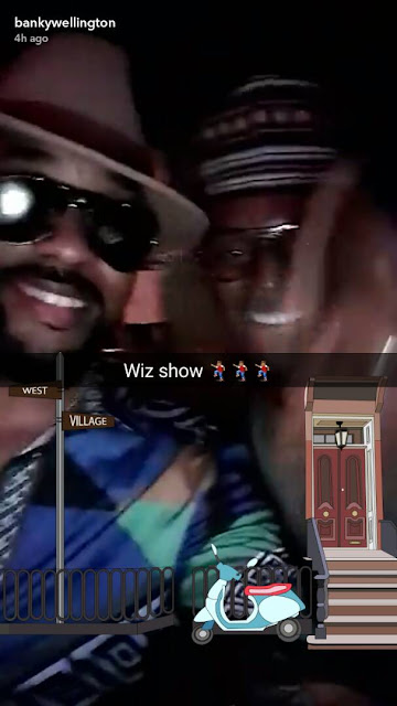 Sweet Love! Banky W Shows Up At Wizkid's Album Release Party (Photos)