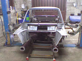 BMW 2002 Body meets the E36 chassis floor