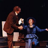 Bob Laurilliard and Carol Jones in LOOK HOMEWARD, ANGEL (R) - March 1994.  Property of The Schenectady Civic Players Theater Archive.