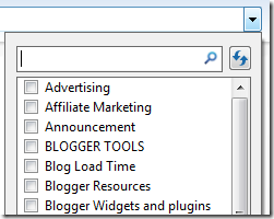 blog category list
