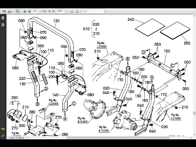 buy kubota mx5100  u0026 la844 loader parts manuals