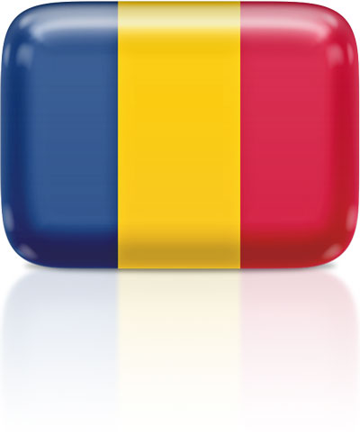 Chadian flag clipart rectangular