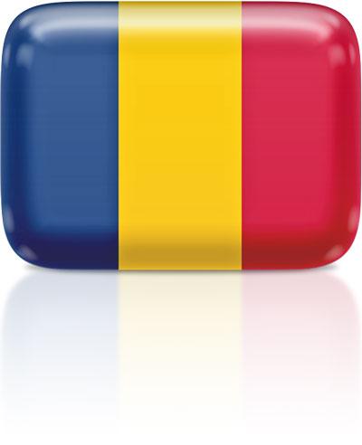 Chadian flag clipart rectangular