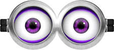Molde Minions: Imprimible Anti-minion Morado Dos Ojos