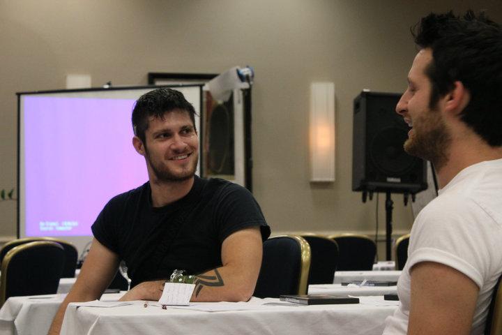 Adam Lyons With Ratisse Pua, Afc Adam Lyons