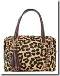 Dune Leopard Print Bowling Bag