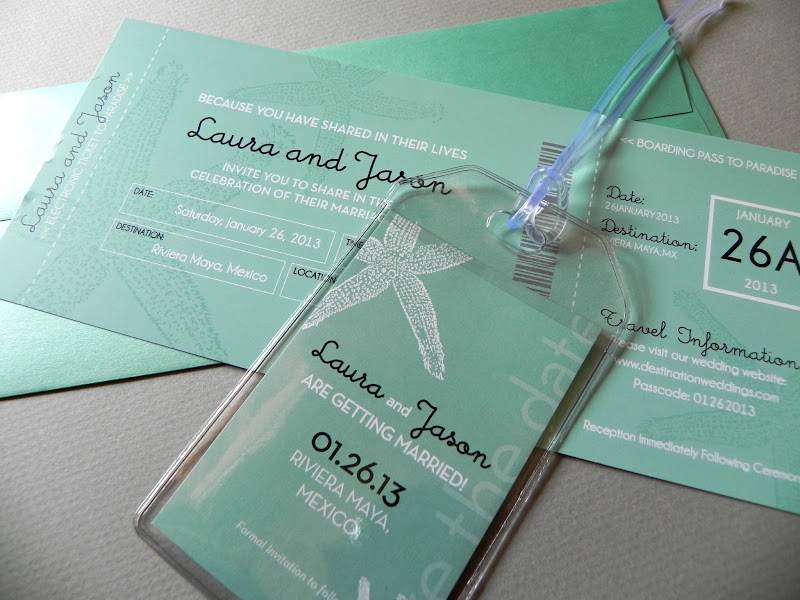 Announce Your Destination Wedding with Boarding Pass Invitations ...