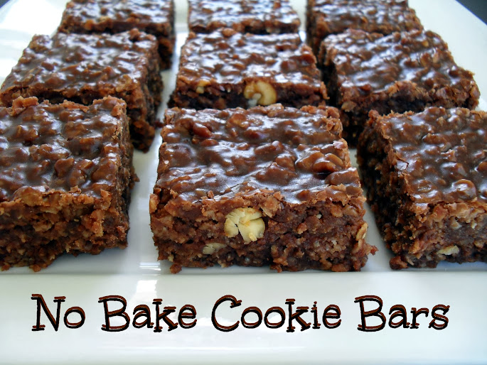 No Bake Cookie Bars | veronicascornucopia.com