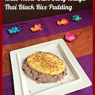 Khao Neow Dum Sung Khaya – Thai Black Rice Pudding Custard.