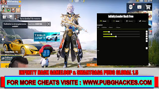 PUBG MOBILE v1.5 INFINITY Free Hack for GAMELOOP and SMARTGAGA