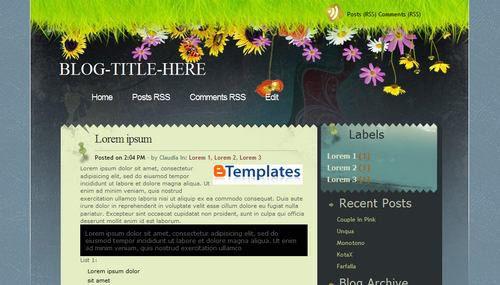 Seabreeze template blogger