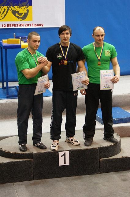Left hand podium: Ruslan Babayev (2) - Ievgenii Prudnyk (1) - Alexander Tkachuk (3)