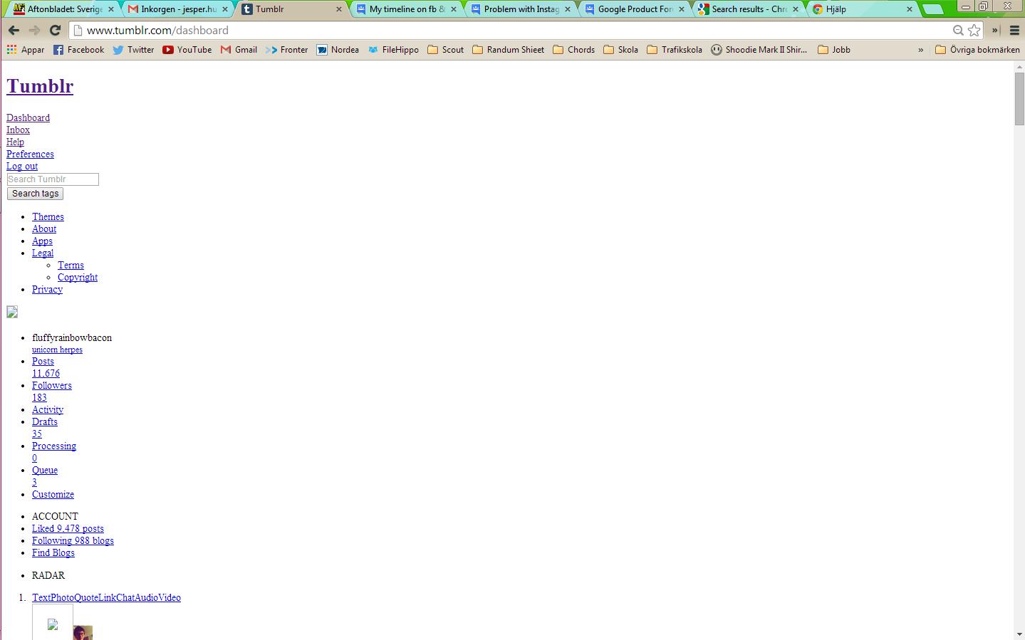 Tumblr is not working  - Google Chrome Help