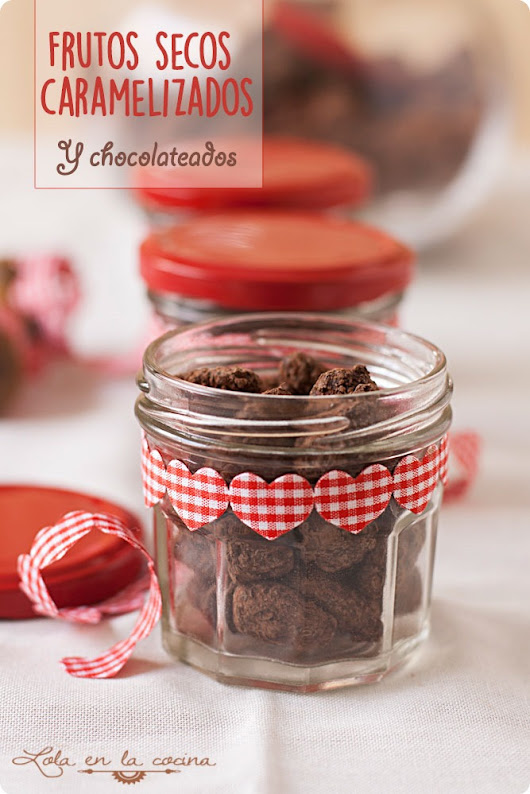 Frutos secos caramelizados y chocolateados
