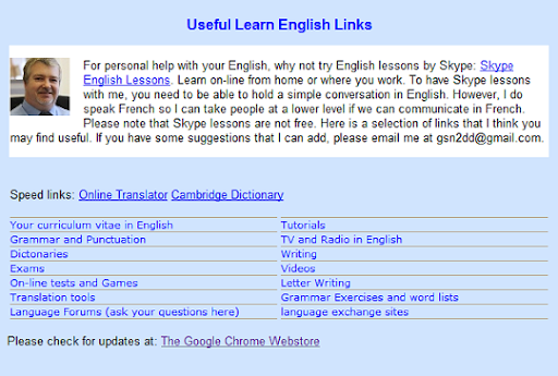 Learn English Assistant example