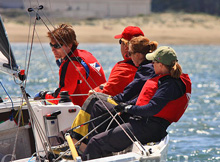 Nicole Breault sailing J/22 St Francis YC team race invite