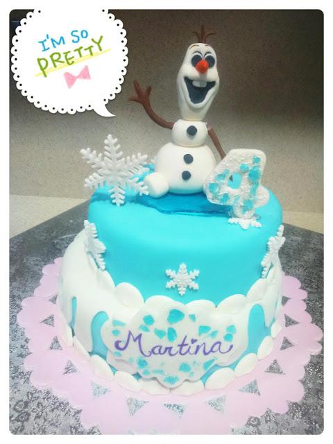 tarta olaf, tarta frozen, olaf cake,