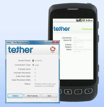 """Tethering App For Android Phones"""