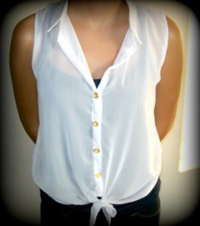 Blusa transparente top de tiras debajo