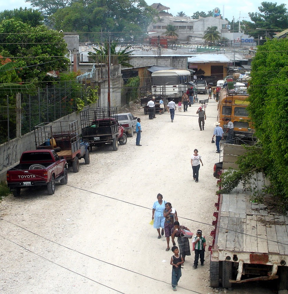 View of a Santa Elena street, from the roof of my hotel.