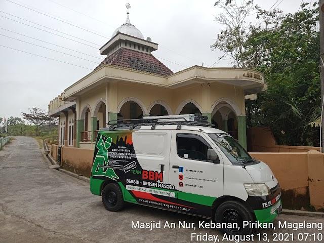 Kegiatan bersih masjid di masjid An Nur, Kebanan, Pirikan, Magelang