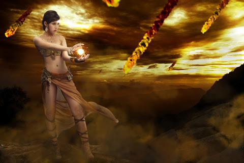 Song nữ khoe dáng với cosplay Truyền Thuyết Bóng Đêm 9