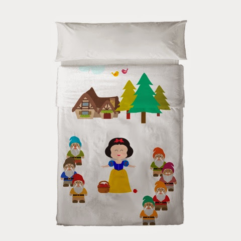 Mr Fox Dwarves Bedding - Snow White bedding