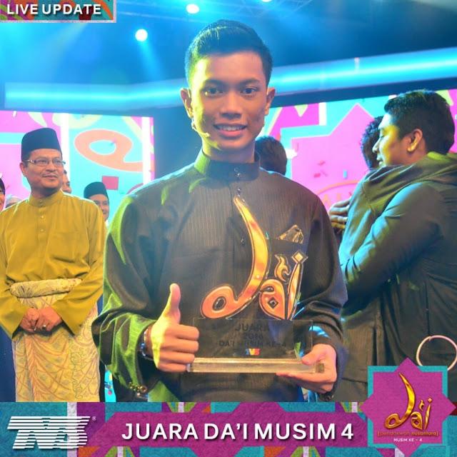 Tahniah kepada #DaiNeizal menjadi juara untuk Da'i Pendakwah Nusantara musim ke 4