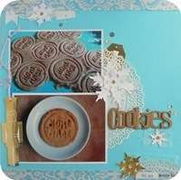 32 - sizzix big shot - scrapbookig layout - fustelle