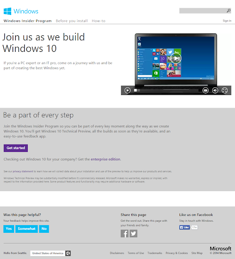 Windows 10 Technical Preview: Unduh yang Pro atau Enterprise!         ~          Open Your Windows!