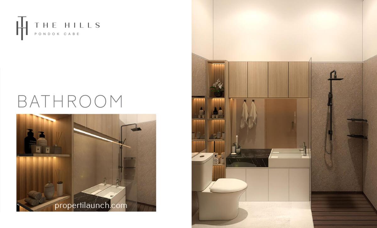 Interior Desain Bathroom The Hills Pondok Cabe Tipe 32