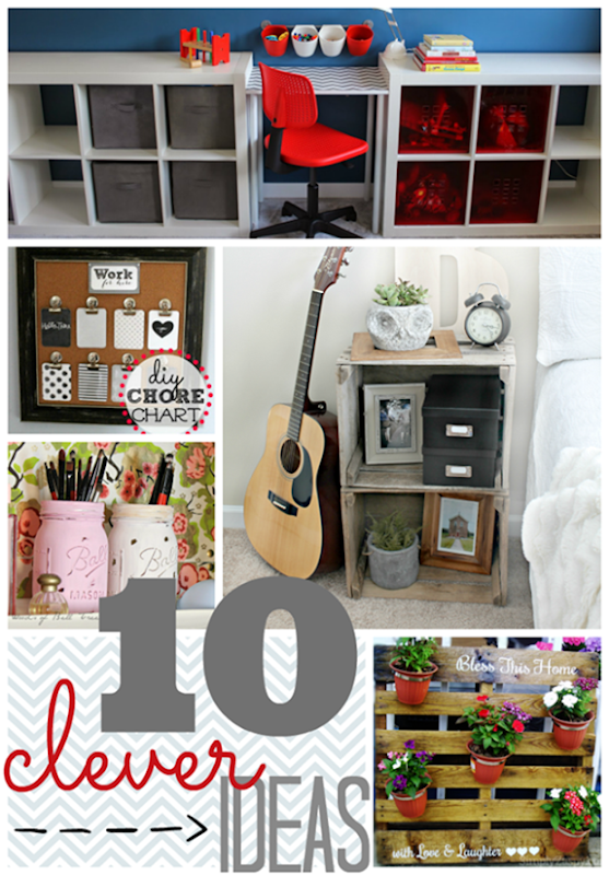 10 Clever Ideas at GingerSnapCrafts.com #linkparty #features_thumb[2]