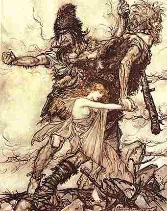 Freia Is Taken By The Giants, Asatru Gods And Heroes