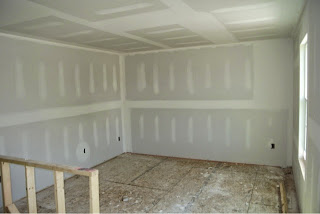 Picture of a Ryan Homes Florence Model loft with drywall installed