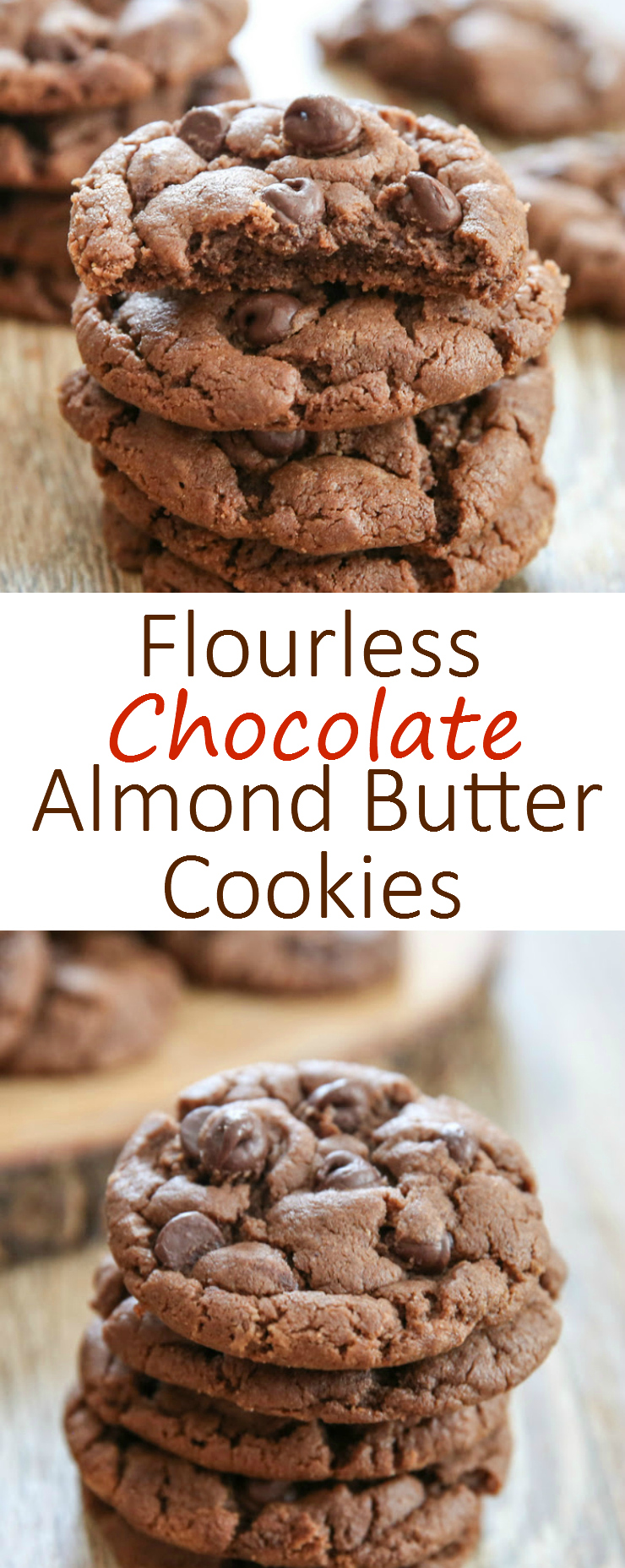 Flourless Chocolate Almond Butter Cookies photo collage